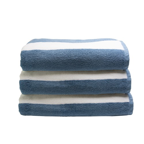 Connoisseur Pool Towel, Blue Stripe | Simply Supplies