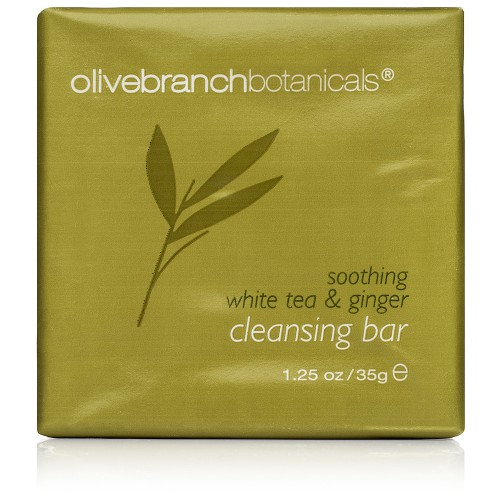1.25oz/35g Olive Branch White Tea & Ginger Cleansing Bar - Paper Wrap