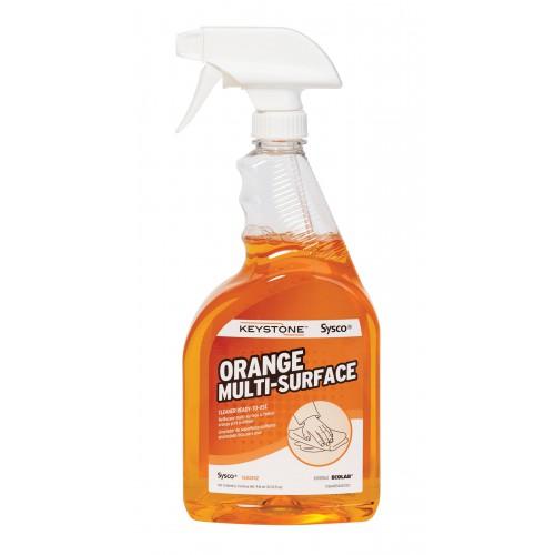 Keystone Ready-To-Use Orange Multi Surface Cleaner (case of 4)