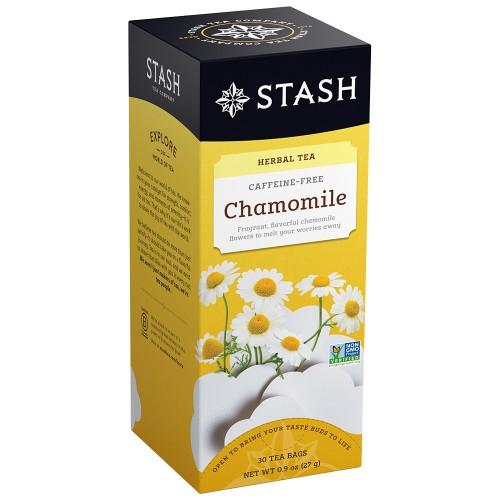 STASH Chamomile Herbal Tea, caffeine free, box of 30 | Simply Supplies