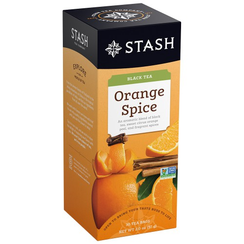 STASH Orange Spice Black Tea, box of 30 | Simply Supplies