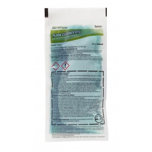 Keystone Ready-To-Use Floor Cleaner, 2oz (case of 60)