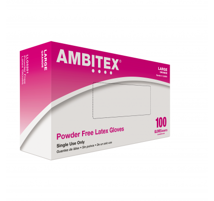 Ambitex® Cream Latex Gloves, Large