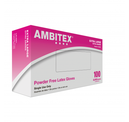 Ambitex® Cream Latex Gloves, Extra Large