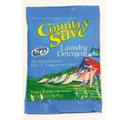 Country Save Powdered Laundry Detergent Packet 2oz (case of 200)