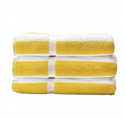 Connoisseur Pool Towel, Yellow Stripe | Simply Supplies