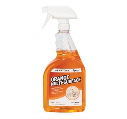 Keystone Ready-To-Use Orange Multi Surface Cleaner (case of 4)