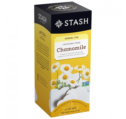 STASH Chamomile Herbal Tea, caffeine free, box of 30 | Simply Supplies