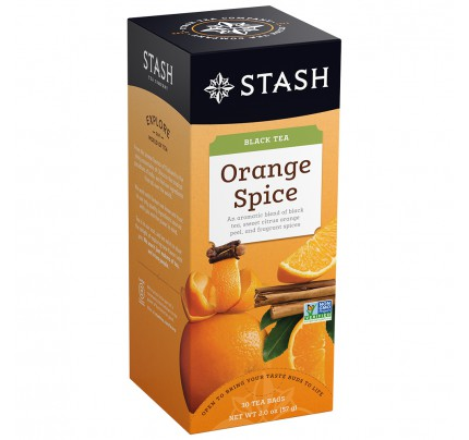 STASH Orange Spice Black Tea, box of 30 | Simply Supplies