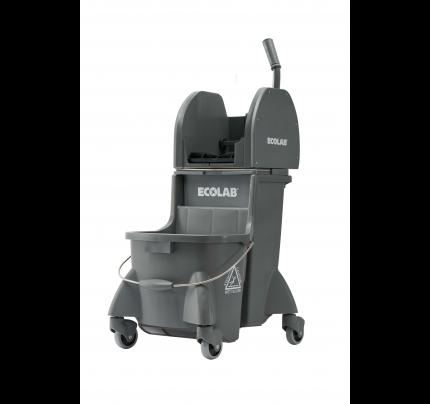 Ecolab® DuraLoc Dual Cavity Mop Bucket, Gray