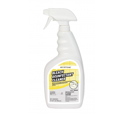 Keystone Bleach Disinfectant Cleaner 32oz (case of 4)