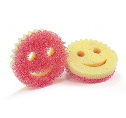 Scrub Daddy® Scrub Mommy Essentials®  Mini Dual-Sided Design w/ FlexTexture® and ResoFoam® Pink