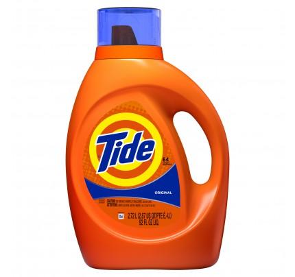 Tide Liquid Laundry Detergent, Original Scent, 92 oz (case of 4)