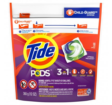 Tide PODS Laundry Detergent, Spring Meadow (case of 6)