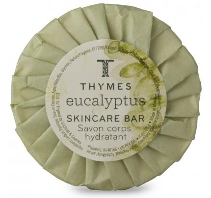 1oz/28g Thymes Eucalyptus Round Aloe - Green Tissue Pleat Wrap