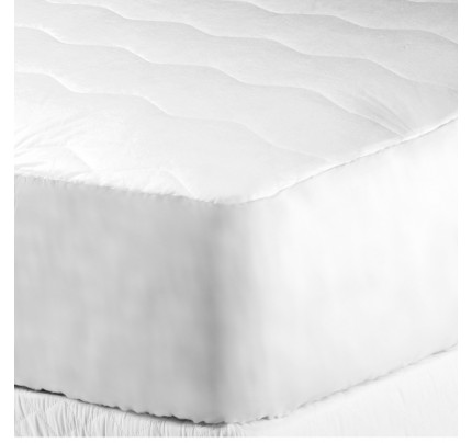Classic Plus Mattress Pad, Quilted  Cloth Top & Bottom, Full XL/Double XL with Fitted Skirt (case of 4)