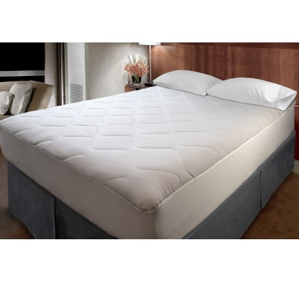 Classic Waterproof Mattress Pad King with fitted skirt (case of 4)